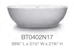 blu bathworks freestanding tub fini line